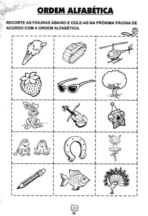 Fabuloso Atividades ordem alfabética - MELHORES SUGESTÕES AQUI ZT72