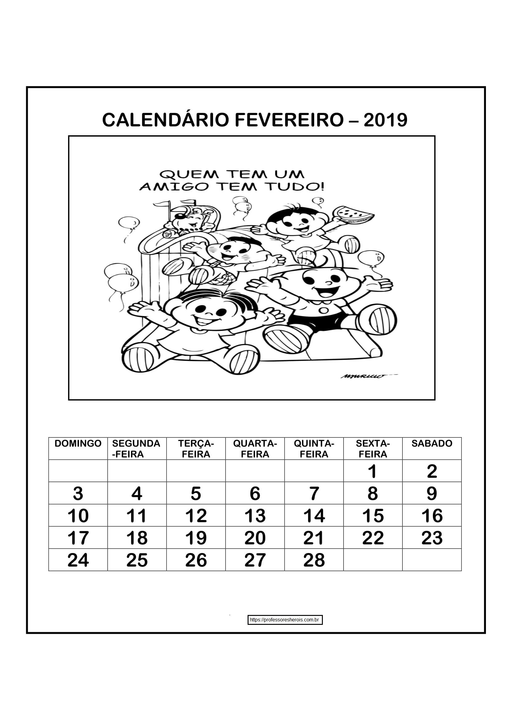 cadendario-para-completar-e-colorir-2019-fevereiro-D-1