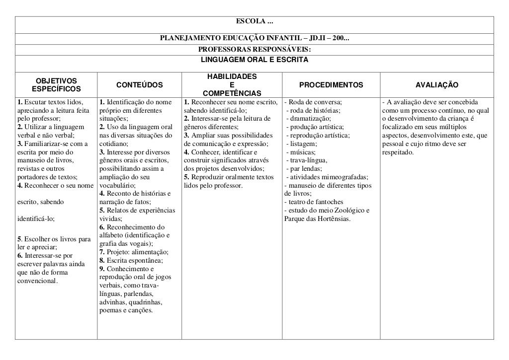 Populares Plano de aula para educação infantil - Baixe grátis VX54