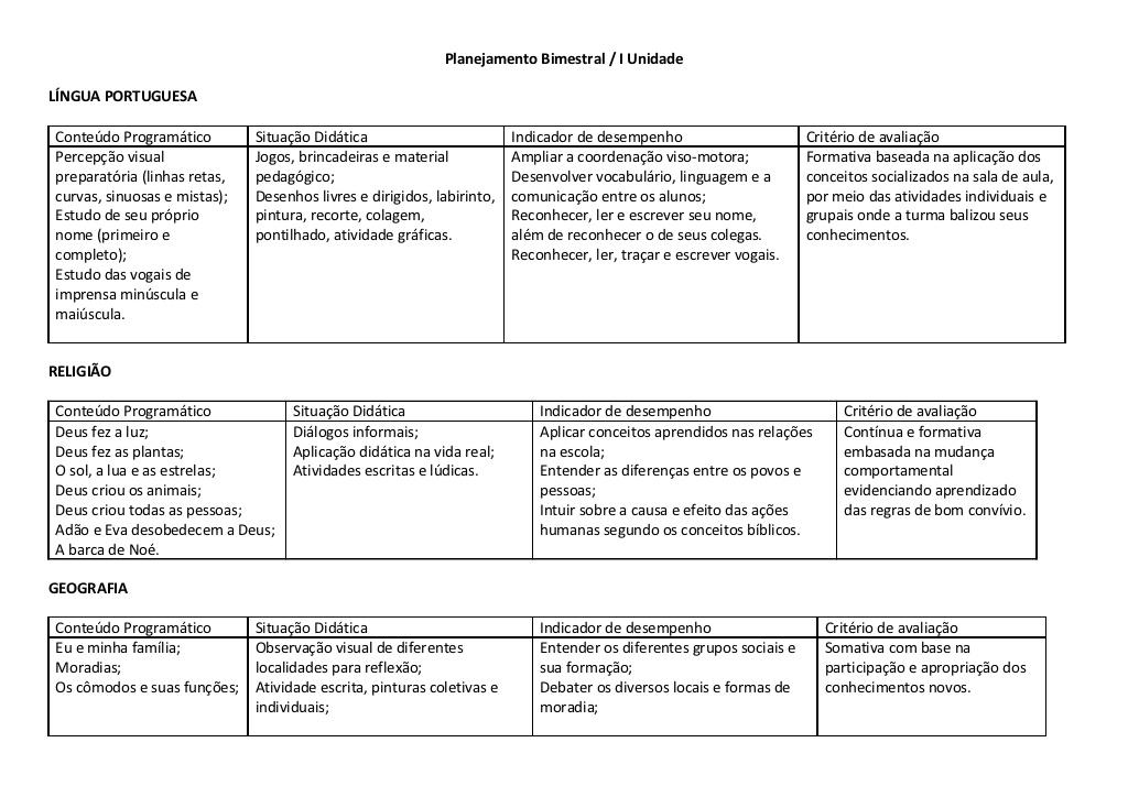 Suficiente Plano de aula para educação infantil - Baixe grátis PA34