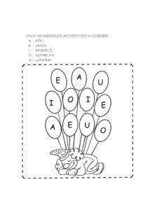 Atividades com vogais para alfabetizar
