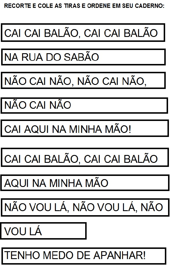Top Atividades com cantigas de roda para completar - ÓTIMAS SUGESTÕES NX43